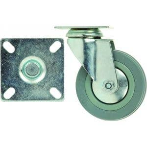 100mm Unbraked Castor - Mounting Plate